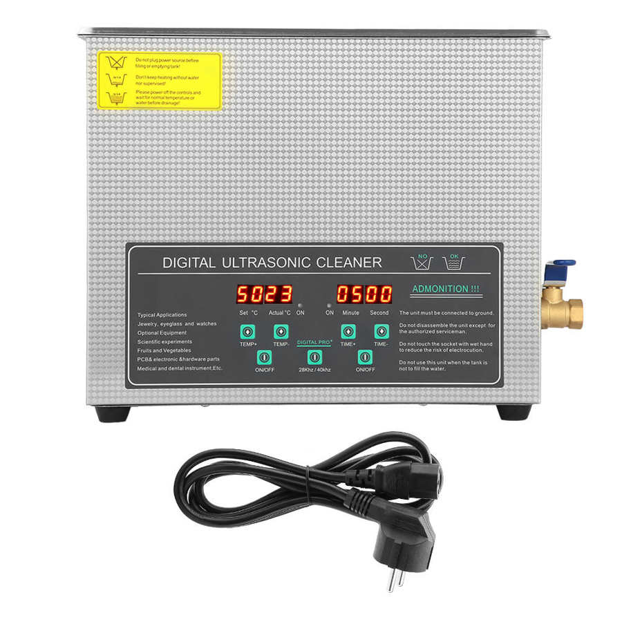 3L 6L 10L industrie nettoyeur à ultrasons Double fréquence numérique en acier inoxydable bijoux lunettes outils nettoyage Machine 220V