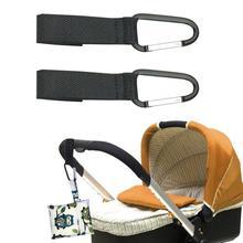 1pc Adjustable Baby Hanger Multi-function Professional Baby Bag Stroller Hooks Pram Rotate Baby Stro