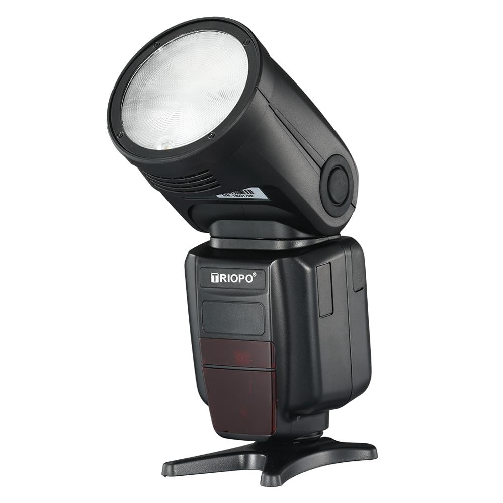 Triopo R1 The Round Head Camera Ring Flash Speedlite 2.4G Wireless TTL HSS Speedlight Flash with Li-Battery for Canon Nikon VS V