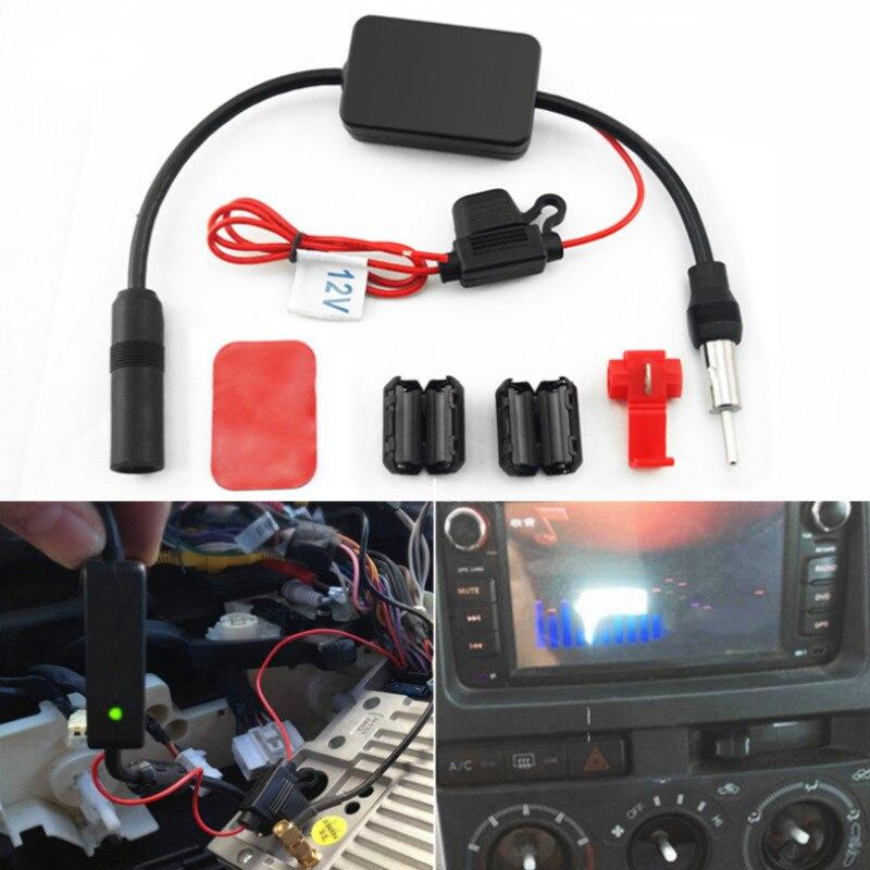 Antena de Radio FM Universal para coche de 12V, amplificador de señal, amplificador de señal para coches marinos, barcos y vehículos, amplificador de 330mm