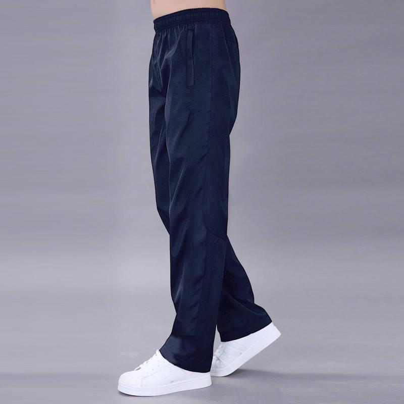 Мужские свободные черные брюки бриджи 5XL 6XL, мужские повседневные брюки, мужские брюки на весну/осень, Мужские дышащие быстросохнущие брюки ...