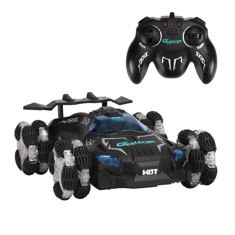 2.4G 4WD High Speed Remote Control Cars Off-road Vehicle Model Toy 1:12 Spray Drift RC Stunt Car Wit