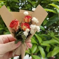 creative gift box decoration vintage mini bouquet roses dried flower for holiday gift valentines day mothers day roses flowers