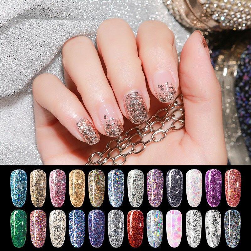 Maychao gel esmalte de uñas Gel para manicura brillo esmalte de uñas Uv Led remojo de gel tapa lacada capa