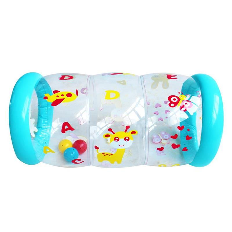 Baby Crawling Toy Early Education Toy Inflatable Baby Crawling Roller with Bell Fitness Toys недорого