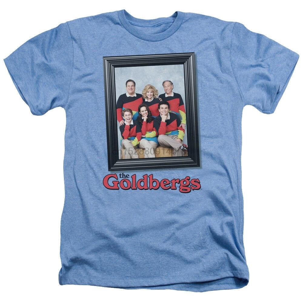 The Goldbergs TV Show foto familiar enmarcado adulto camiseta de brezo todos los tamaños de algodón camiseta para jóvenes de mediana edad de edad