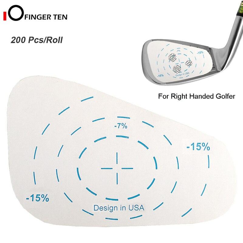 Golf Impact Tape Roll Iron Right Handed Labels Oversized Swing Training Ball Hitting Refill Tool for Men Women