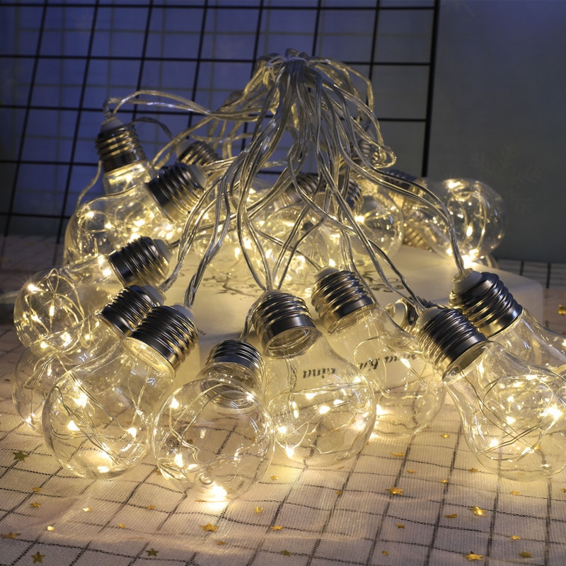 10 20 30 lampada solar led luz ao ar livre com fio de cobre fadas luz casamento natal