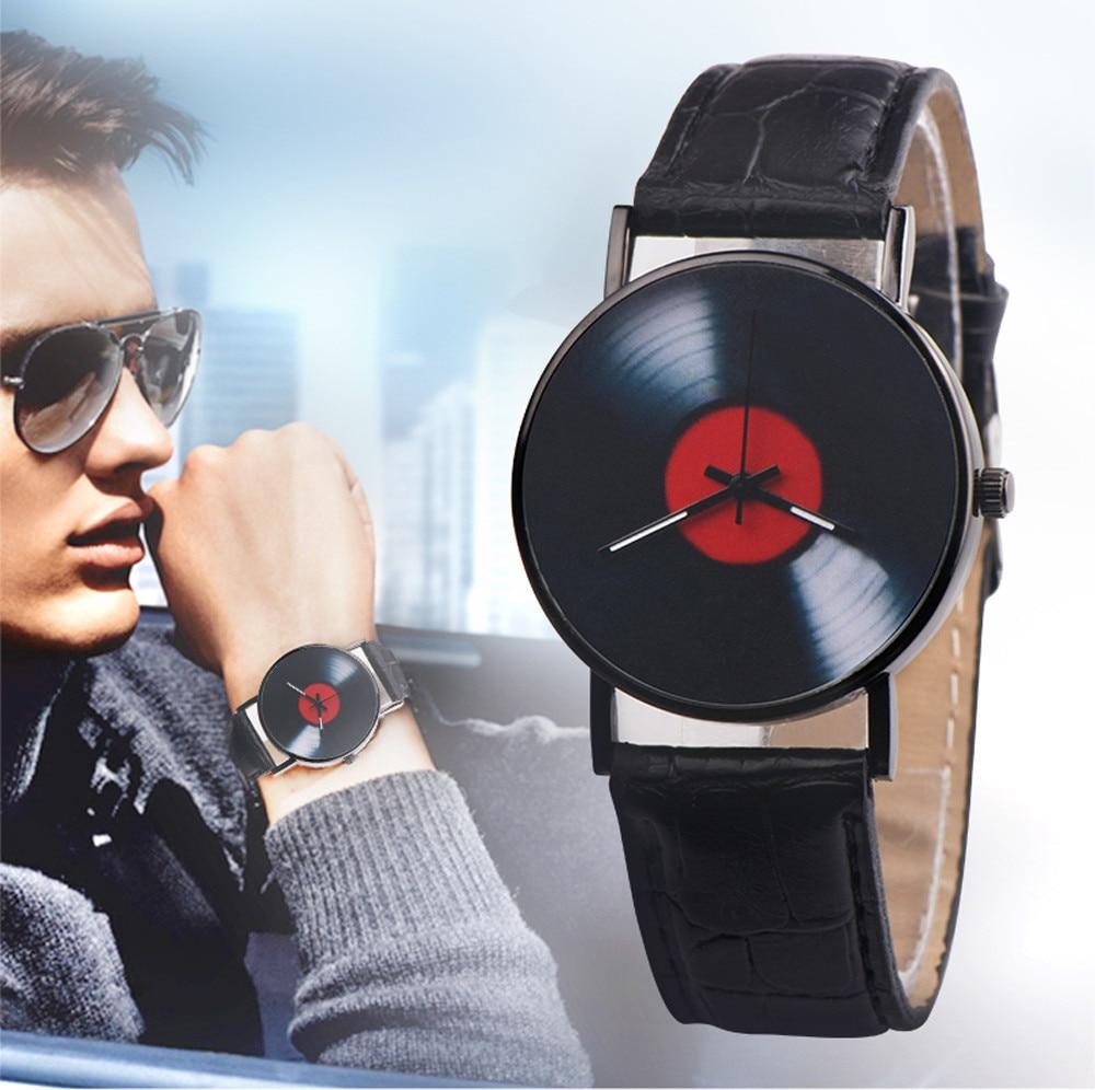 Unisex Fashionquartz Wristwatches For Couple Casualretro Leather Band Analog Stainless Steel All