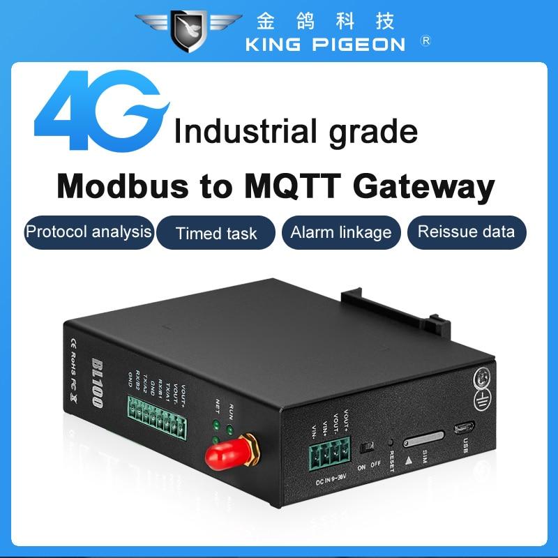 Modbus RTU to MQTT Converter 4G Industrial IoT Gateway for PLC Smart Meters Data Logger Serial to 4G BL100 enlarge