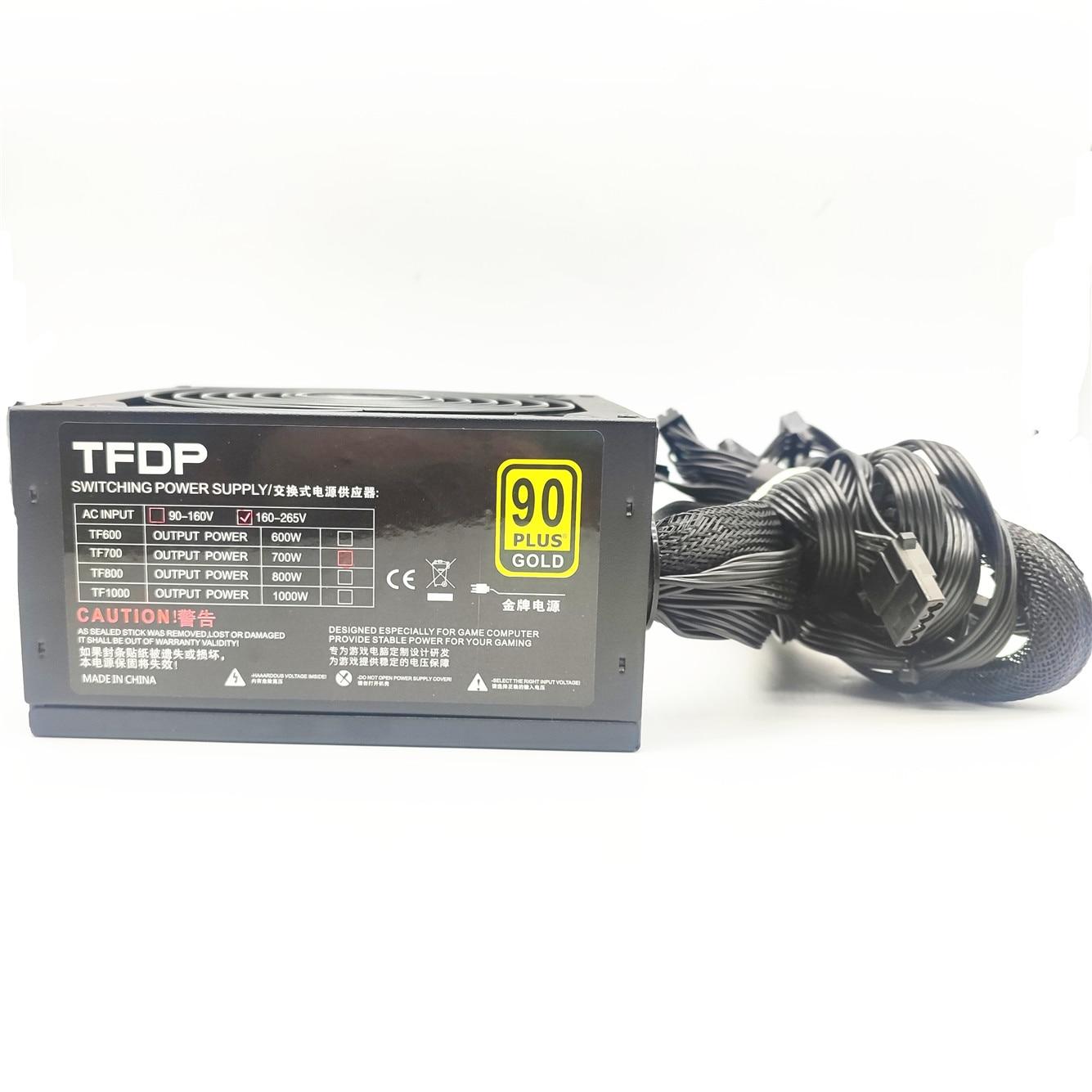 700W Power Supply for Gaming 700W ATX PC Computer Power Supply Gaming PSU 12V 24PIN Active AC Input 90-240 Modular Psu PEAK LED