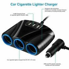 3,1 а мощный автомобильный интерфейс с тремя USB-портами, одна минуты, три гнезда прикуривателя, большое зарядное устройство для грузовиков 120 ...