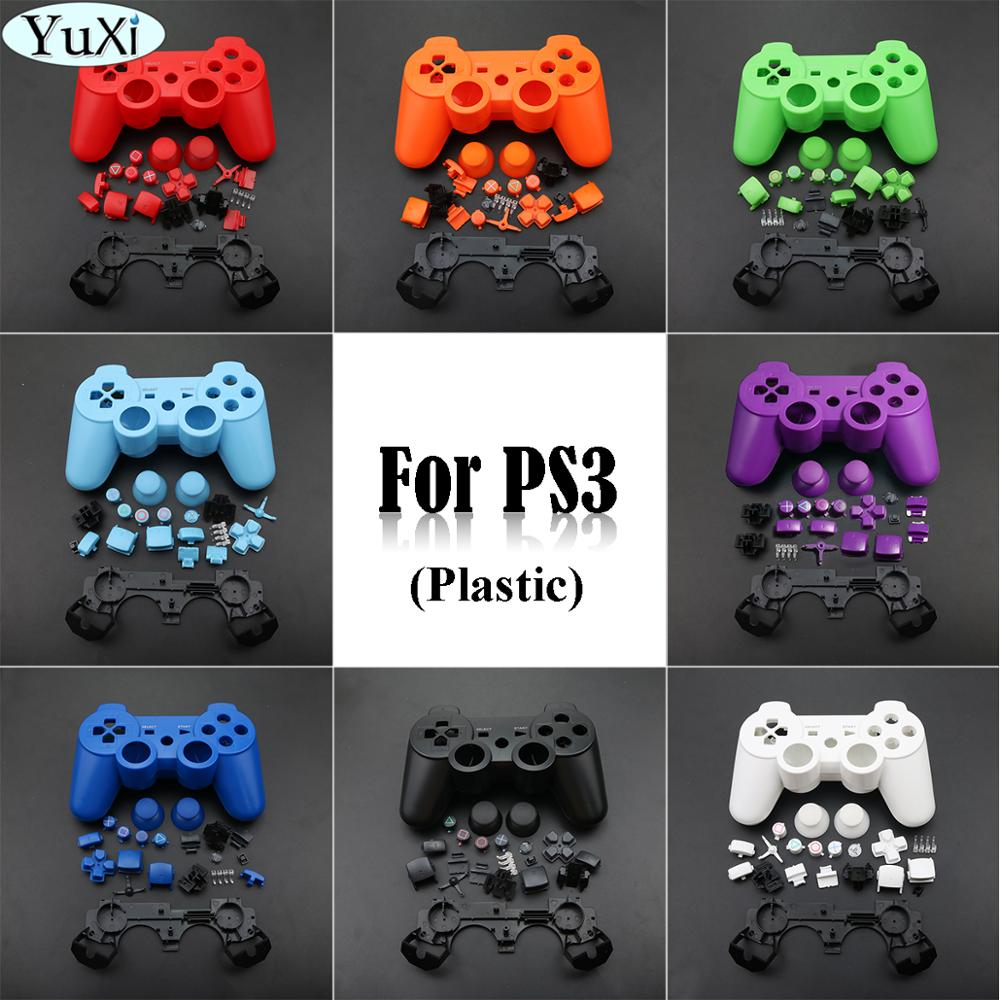 AliExpress - YuXi For Sony Full set gamepads joystick Housing Case Shell with Faceplates Buttons and Inner Frame for PS3 Controller