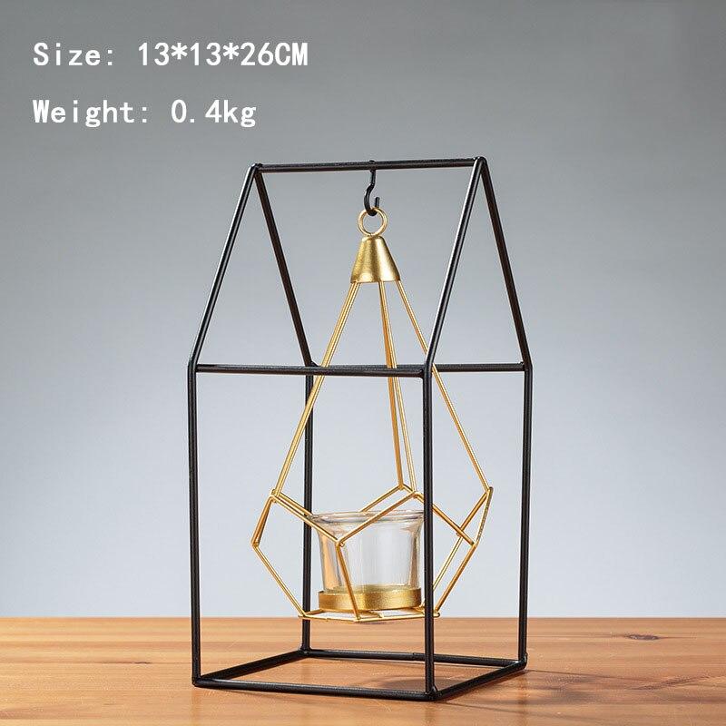 Candelabro de luz de vela europea de estilo nórdico, decoración creativa para...