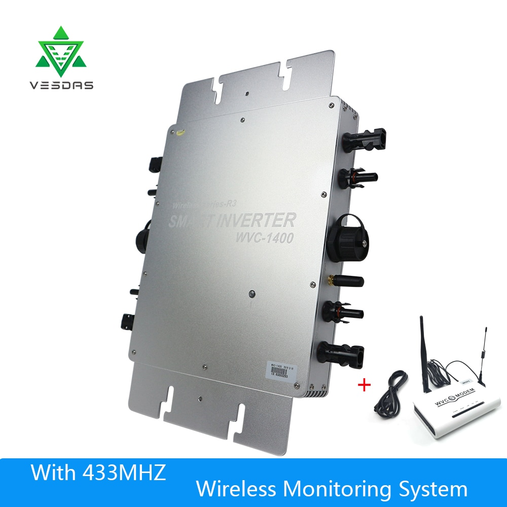IP65 водонепроницаемый MPPT 1400 W Сетка Tie Micro Инвертор 22-50 V постоянного тока до 110 V/220 V для 36 V 1400 W PV системы
