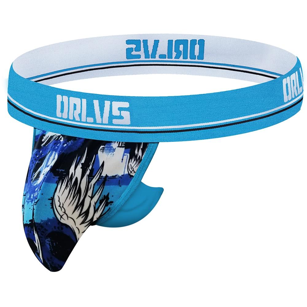 ORLVS-سراويل داخلية للرجال ، ملابس داخلية مثيرة ، حزام رياضي ، قطن ، ملابس داخلية شبكية ، مثلي الجنس