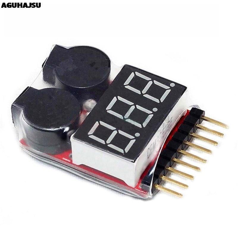1 Uds 1-8S LED alarma de vibración de bajo voltaje Lipo de verificador Indicador de