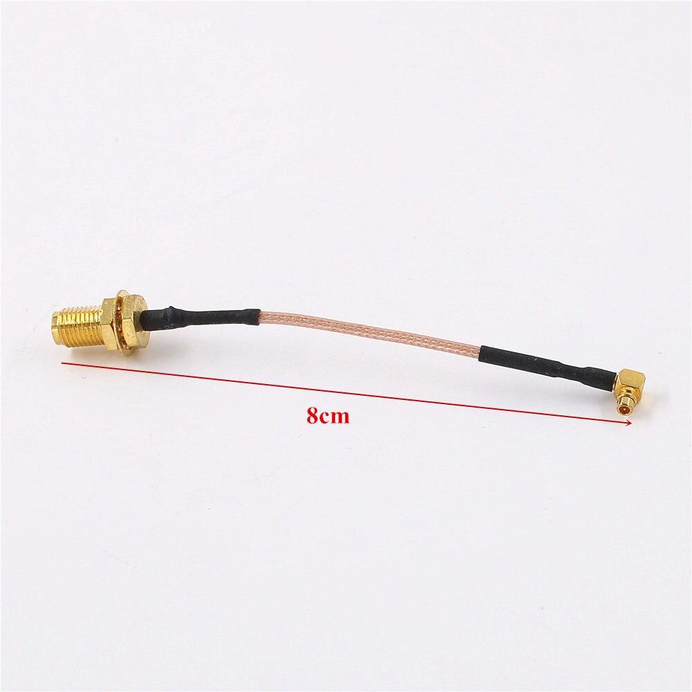 SMA hembra a MMCX macho conector RFID RF Pigtail Coaxial Cable de 8cm GPS WiFi Cable de extensión de antena