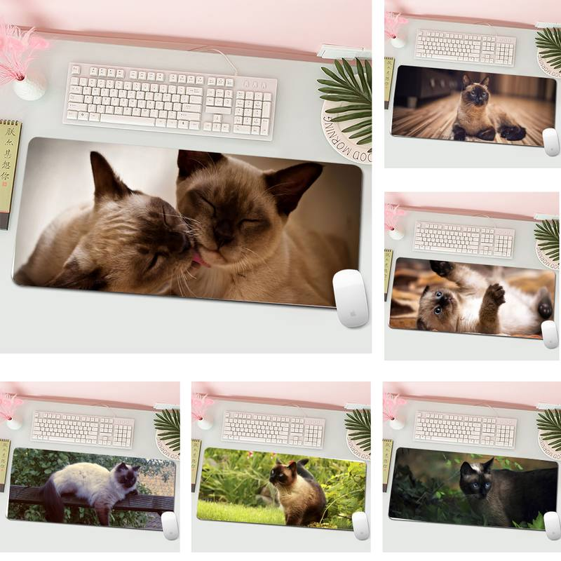 Siamese cat Unique Desktop Pad Game Mousepad L Large Gamer Keyboard PC Desk Mat Computer Tablet Gaming Mouse Pad