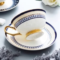 noble elegant coffee mug 250ml espresso cups gold cappuccino coffe cup tea cup spoon saucer drinking cups and mugs caffe cup