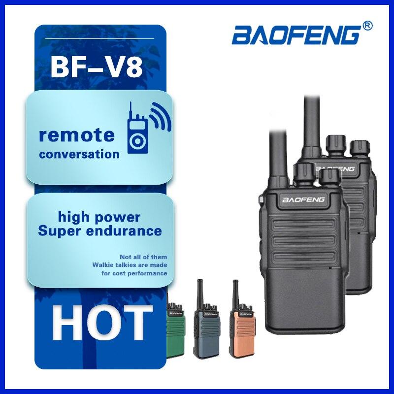 Лидер продаж 2021, портативная рация Baofeng BF-V8, портативная мини-рация UHF с большим радиусом действия, двусторонняя рация, портативная рация