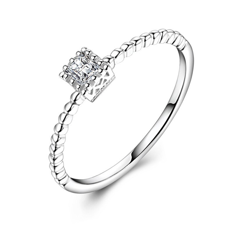 Hotsale معرض الماس 18K الذهب AU750 خواتم الزفاف العصابات للنساء الإناث العروس الراقي يتوهم المشاركة مجوهرات هدية هدية