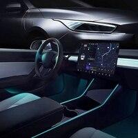 Аксессуары для салона автомобиля Tesla Model 3, Y, легкая установка, Светодиодная лента, неоновые световые трубки RGB с управлением через приложени...
