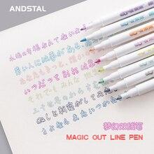 Andstal marqueurs dart doubles lignes, stylo DOMI