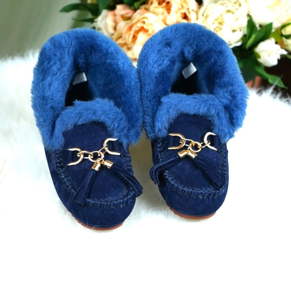 Botas de Pele Botas de Neve Sapatos de Inverno Botas de Neve de Couro Jayx Real Woomne Bowknot Carneiro Genuína Mulher Casuais de Couro