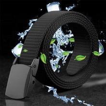 Anti Allergy Belt For Men Women Waistband Canvas Belt Moisture Sports Outdoor Nylon Iron Free Metal Plastic Buckle Casual Fabric