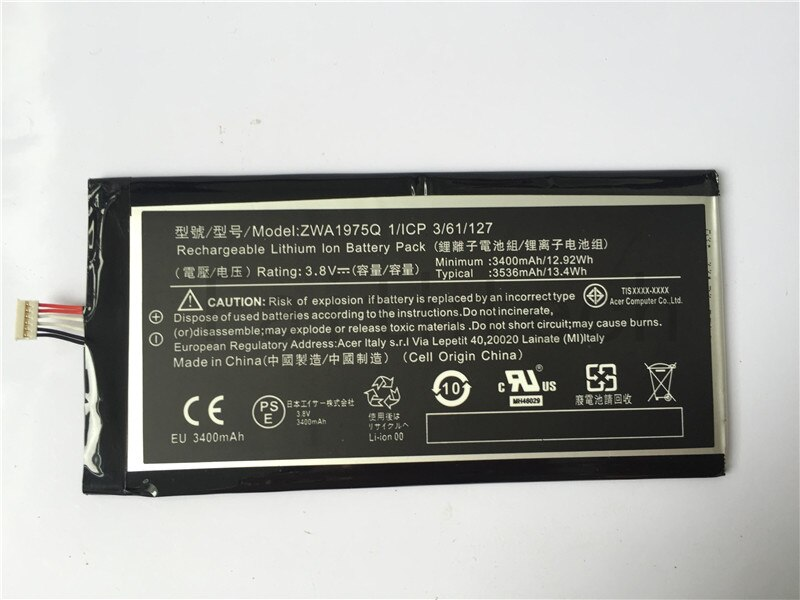 ALLCCX batería Tablet batería de PC ZWA1975Q para Acer A1-713 A1-713HD Iconia Tab 7 con buena calidad