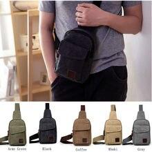 Hirigin mode décontracté hommes poitrine Pack toile sacs à bandoulière pour hommes épaule sac à main voyage sac à bandoulière sacs de poitrine