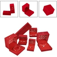 plastic jewelry storage organizer velvet case cuff link package display engagement ring box holder jewelry box gift for women