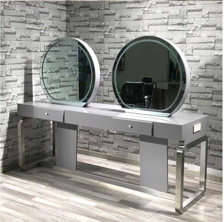 Cabeleireiro estádio do espelho espelho especialmente concebido para barbearia e salão de cabeleireiro na web simples espelho estilo celebridade double-sided