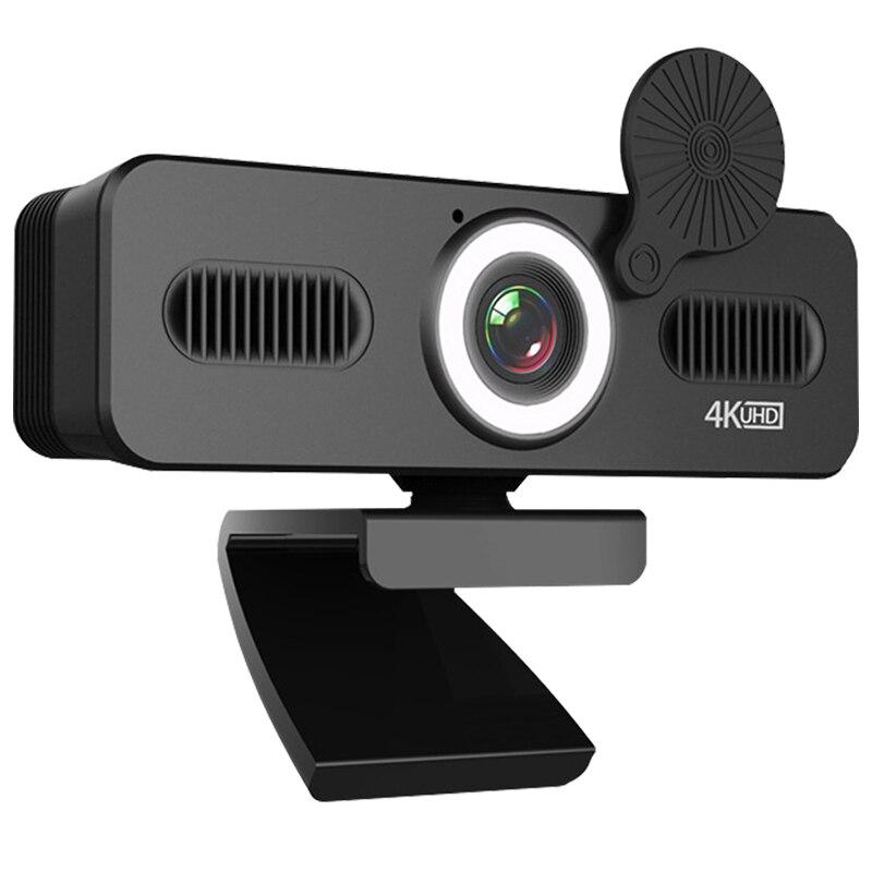 Фото - Веб-камера TISHRIC C360 с микрофоном, 4k веб-камера для ПК, HD веб-камера с USB, Компьютерная камера с крышкой для заполсветильник веб камера