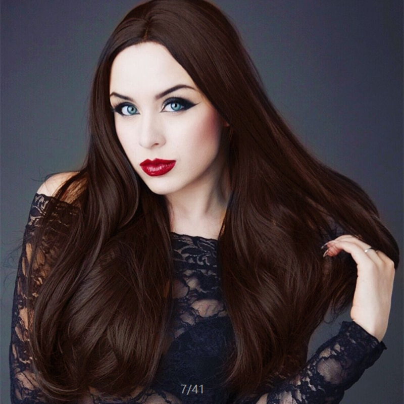 Afro Non-Lace Wig Full Lace Wigs Long Black Brown Blonde Straight Synthetic Wigs Hair Wholesale Glueless Cosplay Wigs for Women