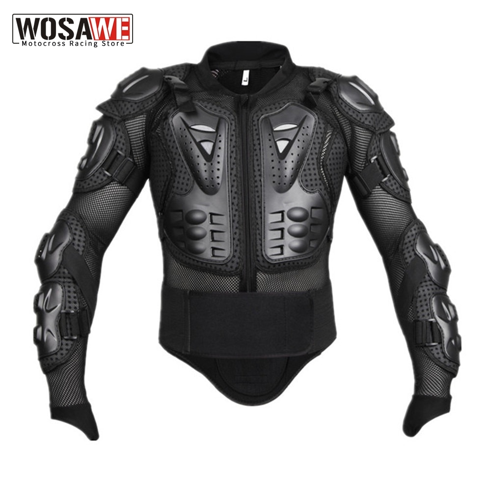 WOSAWE Motorcycle Jacket Snowboard Racing Jacket Body Armor Back Protection Moto Motocross Off-road Clothing Protective Gear wosawe motorcycle jacket full body armor back chest protector motocross racing clothing riding protective gear moto protection