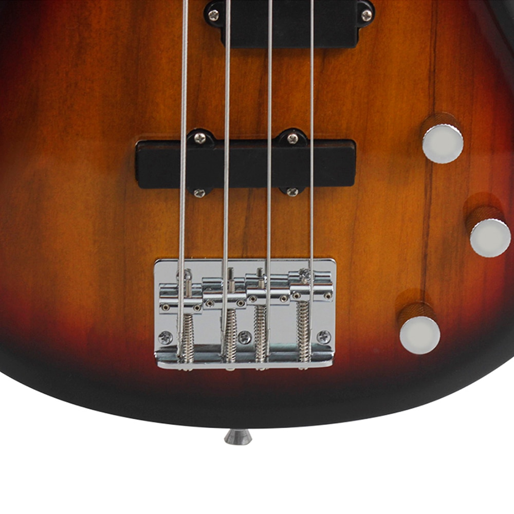 Professional 4 String Electric Bass Guitar Sunset Color 24 Frets Bass Guitar Solid Wood Fingerboard Stringed Musical Instrument enlarge