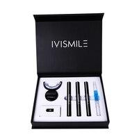 Набор для беспроводного отбеливания зубов IVISMILE, гель для отбеливания зубов, наборы со светодиодсветильник кой, гель для десенсибилизации 12%...