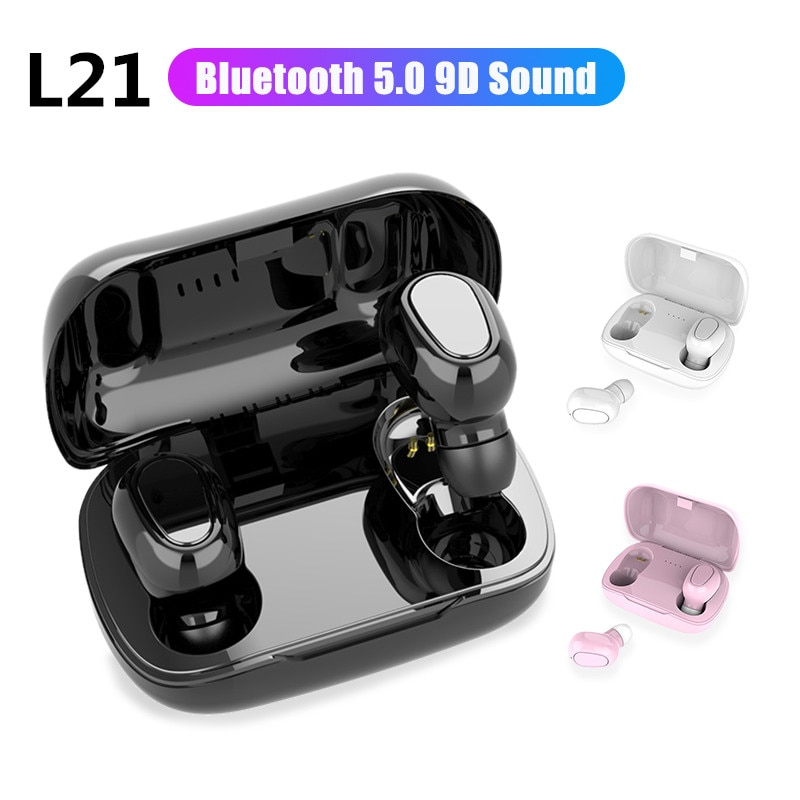 L21TWS Bluetooth 5.0 Earphones earbuds Wireless headphones Case Headsets Dual Earbuds Bass Sound For All Smart Phone Android IOS
