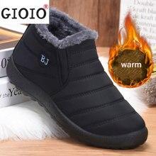 2021 Winter Men Ankle Boots Plus Fur Snow Work Shoes Couple Platform Suede Water Proof Boots Men's W