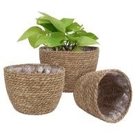 grass planter basket indoor outdoor flower pots cover plant containers for home fping