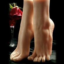 1 paire gauche/droite réaliste femme pieds faux pied affiche chaussures modèle jambes 36 taille fétiche jouet Mannequin