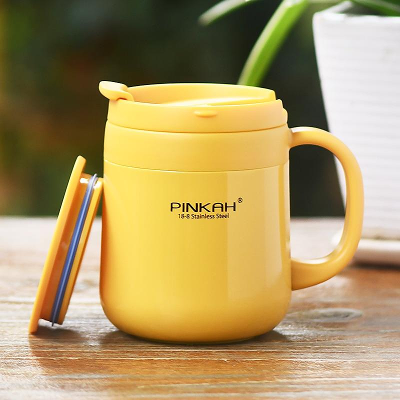 Mini frasco al vacío termo de café de acero inoxidable vaso doble pared pingüino portátil taza café termo taza de té II50BWB