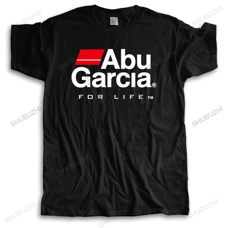 Camiseta con Logo de ABU GARCIA FOR LIFE para hombre, camisa negra...