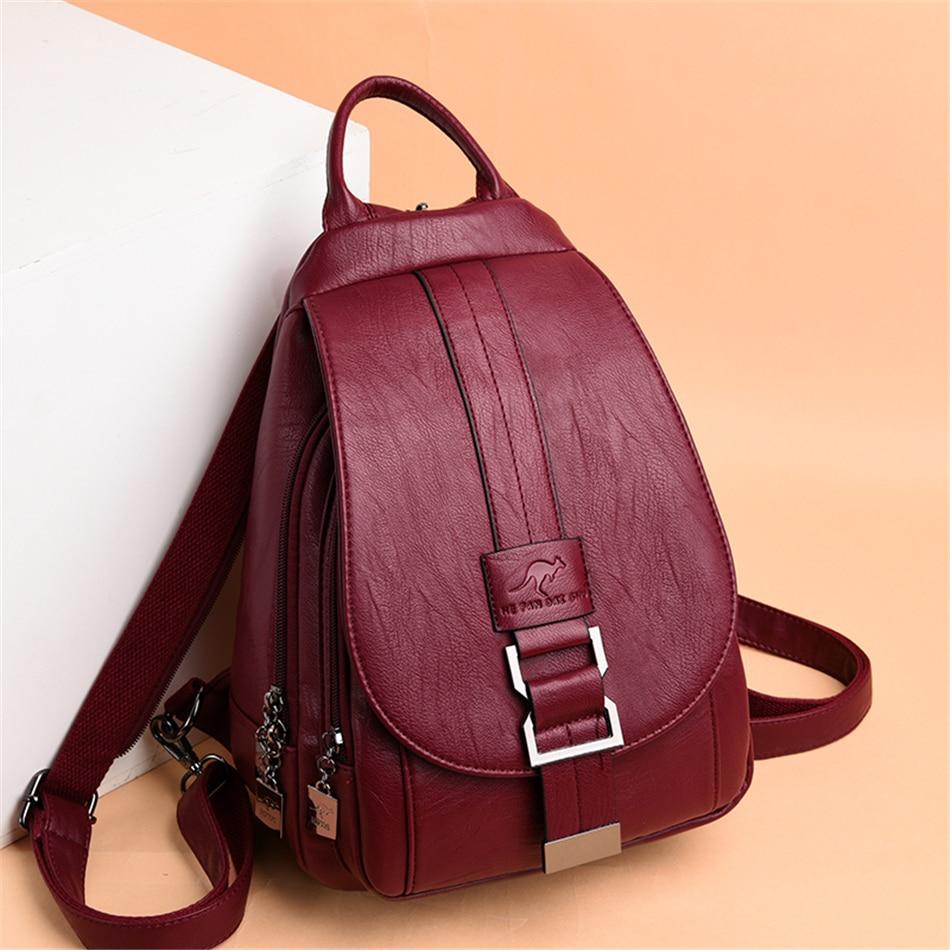 Genuine Brand Travel Backpack Women Soft Leather Shoulder Bags For Women 2021 Designer School Bags For Teenage Girls Mochilas