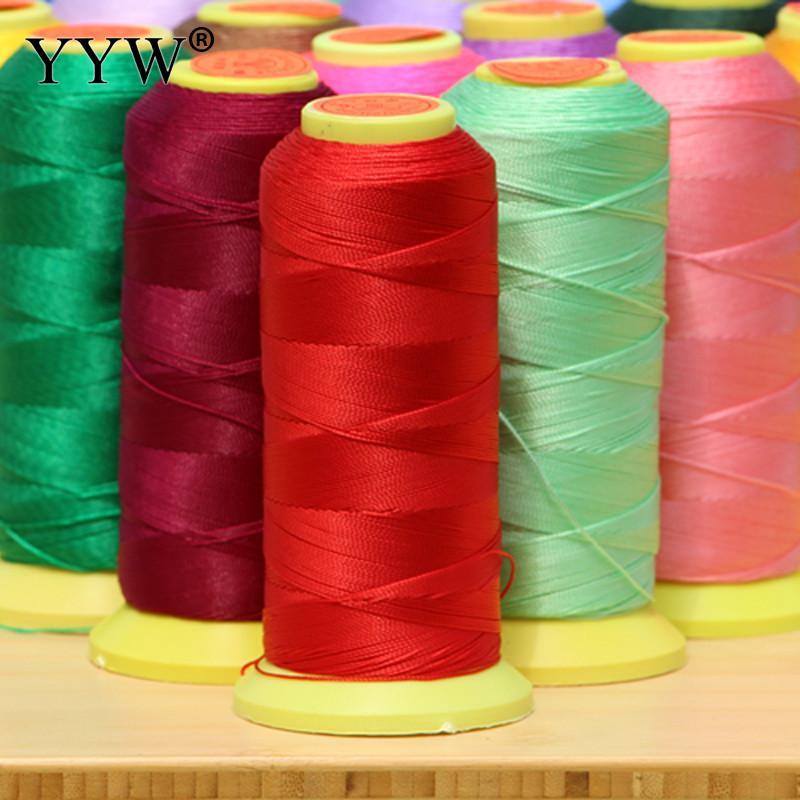 Cordón de hilo de seda con cuentas, cordón de poliamida para cuerda, cordón de nailon para traje de bricolaje, fabricación de joyería 0,2/0,4/0, 6/0, 8/1mm