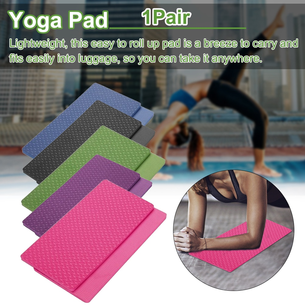 1 par de rodilleras antideslizantes para Yoga, Pilates, deportes en el jardín, hacer ejercicio, gimnasio en casa, Protector de entrenamiento de muñeca