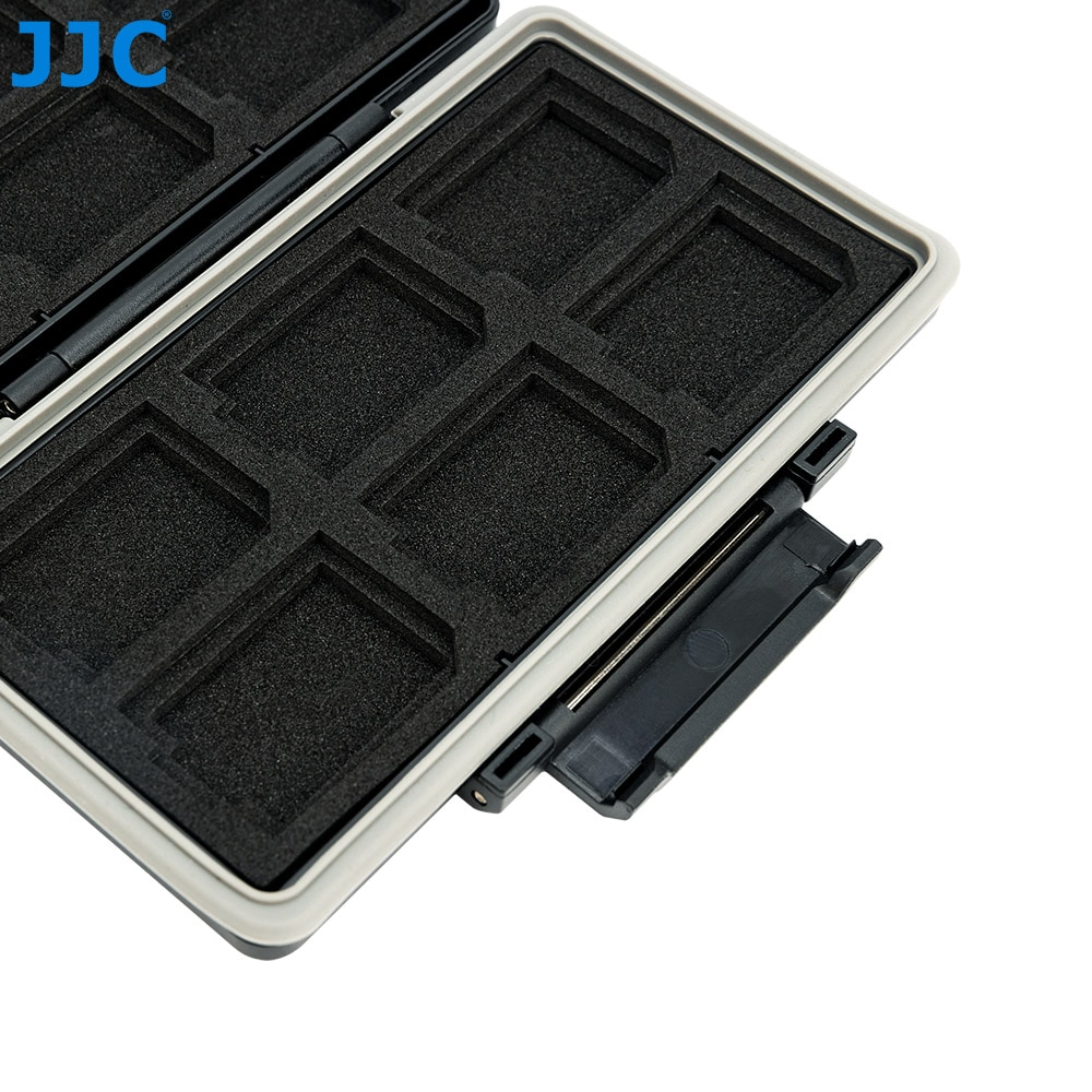 JJC 24 Slots Waterproof Memory Card Case Holder Wallet Organizer for 12 SD SDHC SDXC 12 CFexpress Type-A Card Storage Box Keeper enlarge