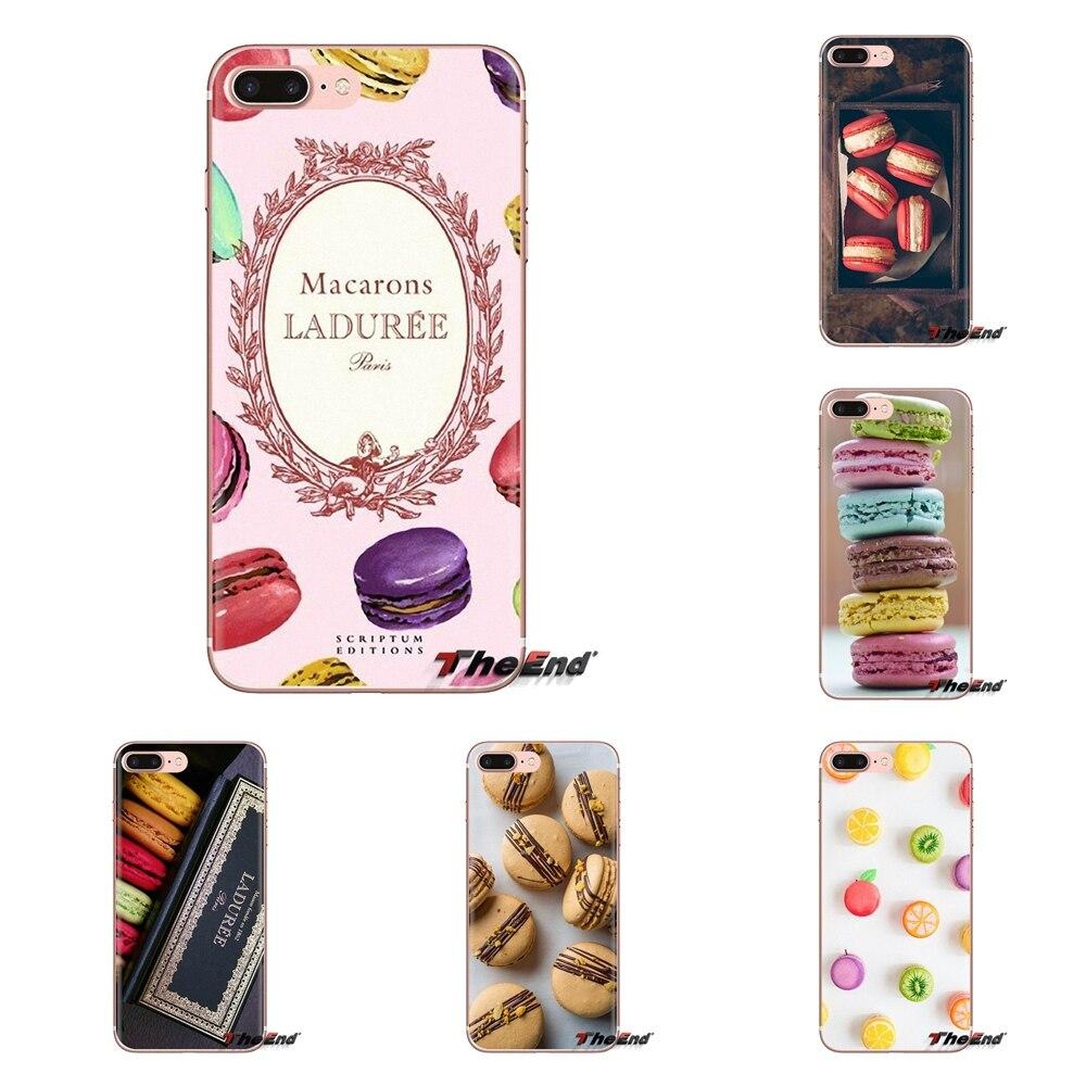 Macarons macios transparentes das tampas do gelado da sobremesa para o iphone 4 4S 5 5S se 5c 6 s 7 8 x xr xs mais max